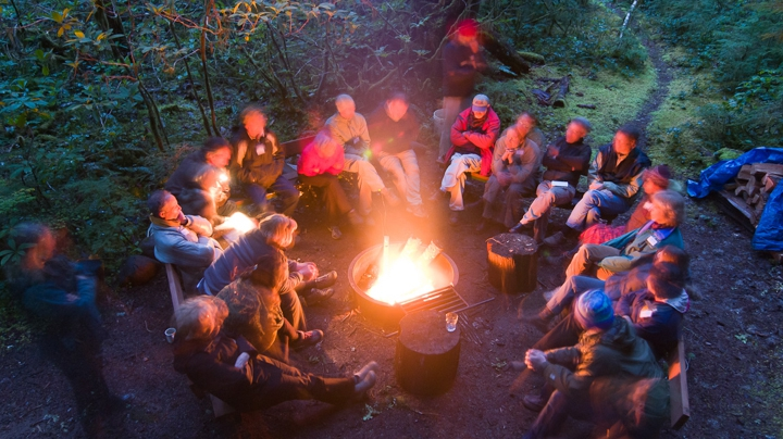 A gathering of artists, writers, and scientists at the Andrews Forest