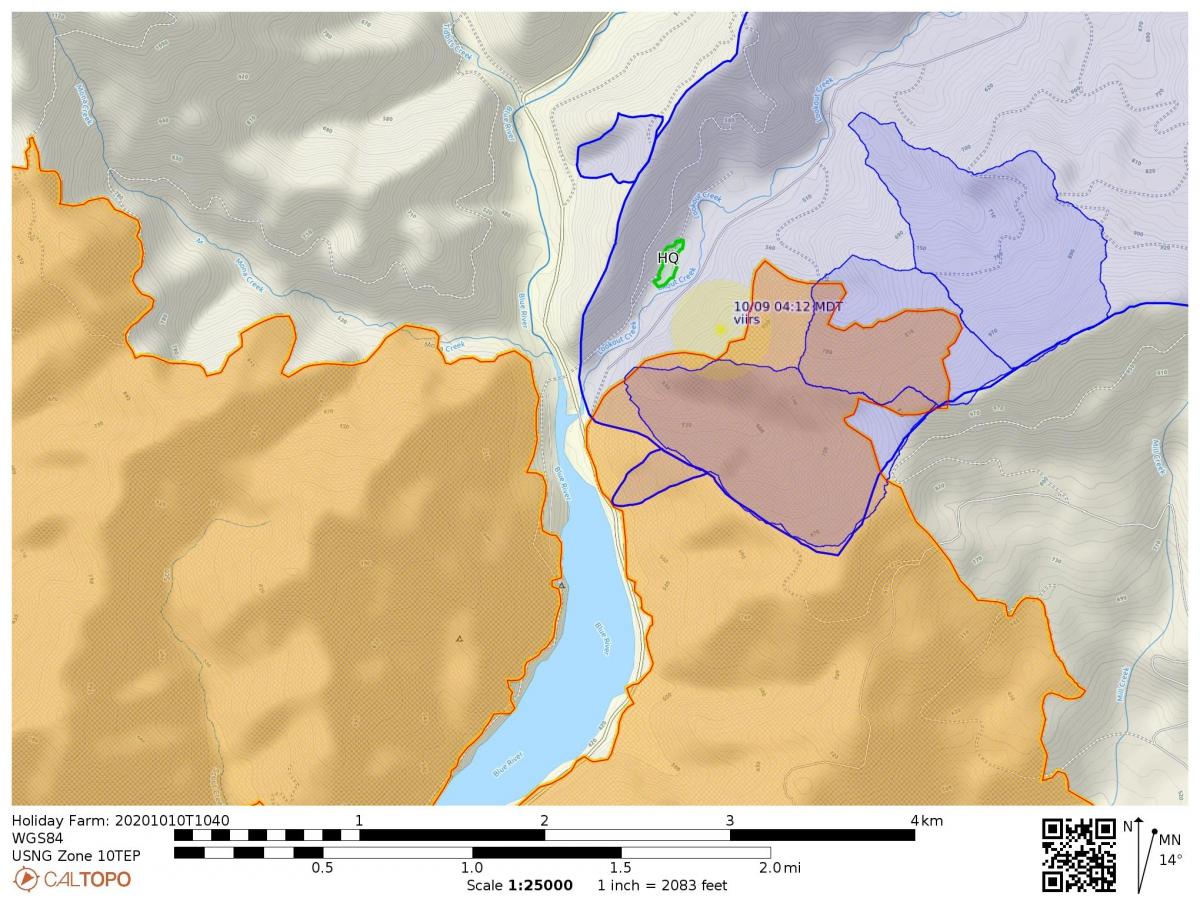 Fire map 10-10-2020