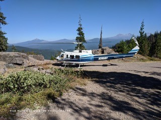 Helicopter evacuation of Fire Lookout
