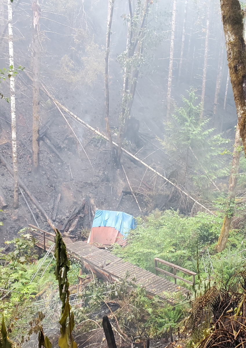 Watershed after fire, Sept 2020