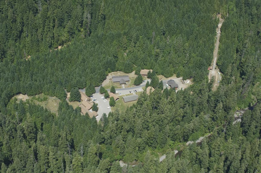 Andrews Forest Headquarters Aerial