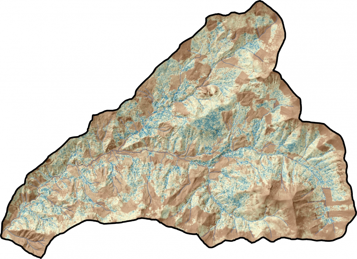 LIDAR map of the Andrews Forest showing ALC