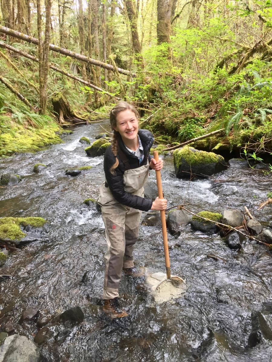 graduate student Lauren Zatkos