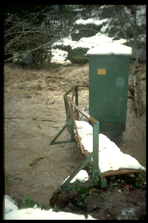 Lookout Creek stream gage 1996