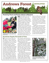 Andrews Forest Newsletter Spring 2019