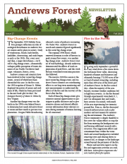 Andrews Forest Newsletter Fall 2020