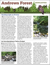 Andrews Forest Newsletter Fall 2016 cover