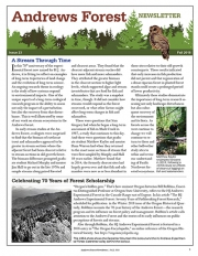 Andrews Forest Newsletter Fall 2018 cover
