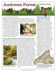 Andrews Forest Newsletter Spring/Fall 2017