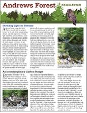 Andrews Forest Newsletter Fall 2016 cover