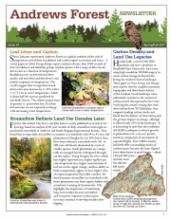 Andrews Forest Newsletter Spring/Fall 2017